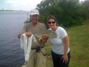 candice fishing with daytona's captain barry